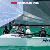 Melges 24 Class Monsoon sailing in Miami Sailing Week, day two.