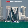 Melges 24 Class sailing in Miami Sailing Week, day two.